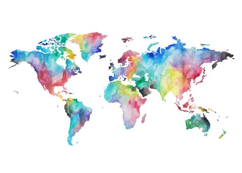 Watercolor World Map by The Question Of Home As A Former Third Culture Kid