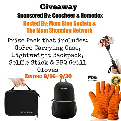 Prize Pack Giveaway - coocheer homodox outdoor accessories prize pack giveaway mom blog society