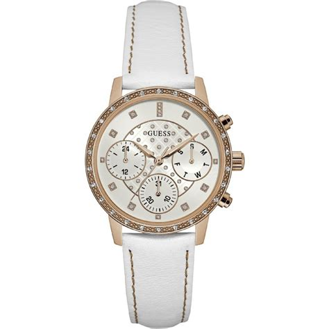 Guess Romawi Date Leather White guess w0957l1 watches photopoint