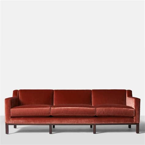 Back Sofa by Edward Wormley For Dunbar Curved Back Sofa For Sale At