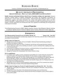 Regulatory Test Engineer Sle Resume by Qa Sle Resume Quality Assurance Specialist Resume