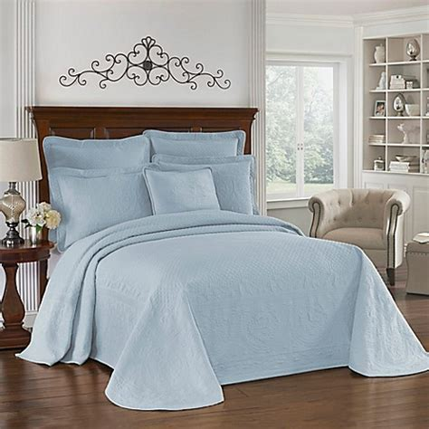 blue matelasse coverlet buy king charles matelasse bedspread in provincial blue