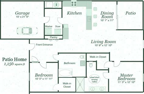 popular patio home floor plans house design ideas