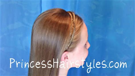 quick easy princess roll with hairband fishtail braid headband hairstyle dancing with the stars