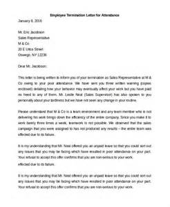 Employee Termination Letter Template by Employee Termination Letter 10 Free Premium Templates