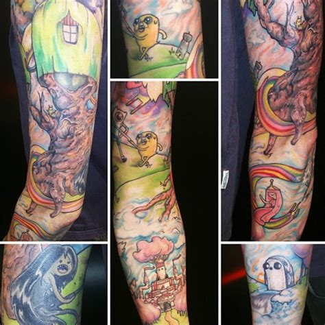 cartoon tattoo sleeve character sleeve www pixshark
