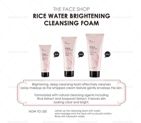 The Shop Rice Water Bright Cleansing Foam rice water bright cleansing foam dara market