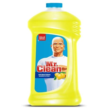 mr clean bathroom products mr clean 174 antibacterial cleaner with summer citrus