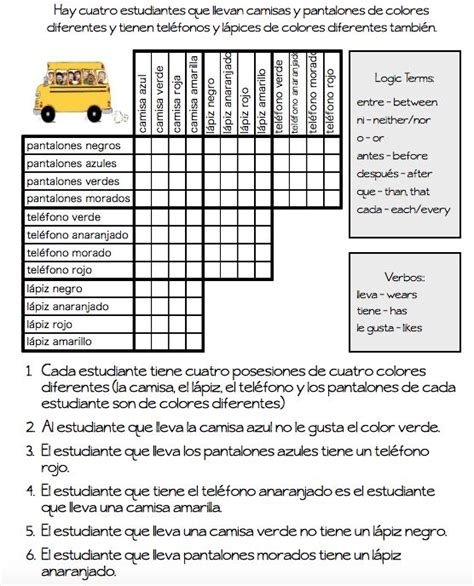 free printable halloween logic puzzles 45 best images about mi clase la ropa on pinterest