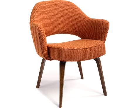 Wood Armchair by Saarinen Executive Arm Chair With Wood Legs Hivemodern