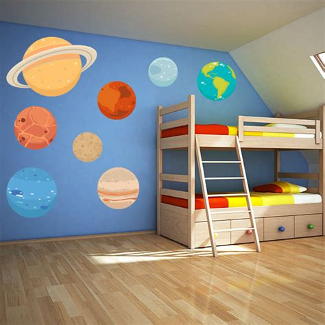 planet wall stickers planet wall decals space wall stickers wall decal world