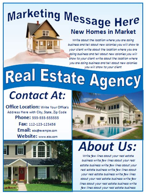 real estate marketing flyers templates free flyer designs templates printable event and
