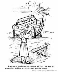 noah builds the ark old testament coloring pages bible