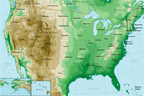 us topographic map united states topographical map