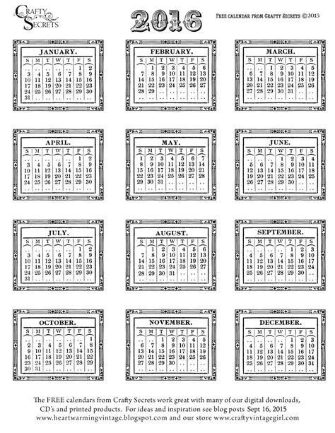 black and white printable planner 2016 free printable black and white 2016 calendar templates