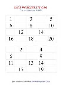 math worksheets for kindergarten numbers 1 20 www