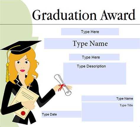 Graduation Gift Certificate Template Free by Certificate Template Free Documents In Pdf Word