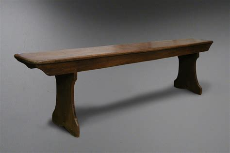 long work bench antique welsh beech farmhouse bench with trestle legs