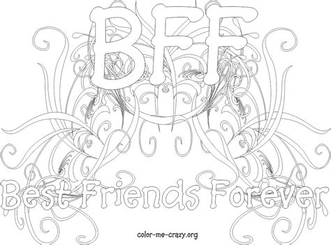 colormecrazy org new bff coloring pages