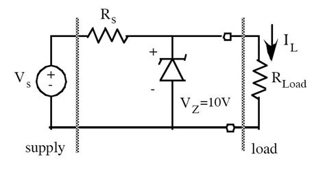 zener diode regulator circuit zener diode shunt regulator question homework lib