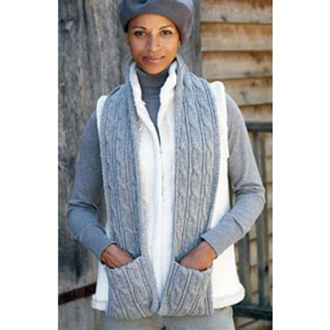 free knitting pattern hooded scarf pockets free cabled scarf with pockets knit pattern