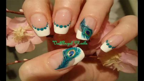nail art tutorial on dailymotion nail art tutorial quot peacock feather quot youtube