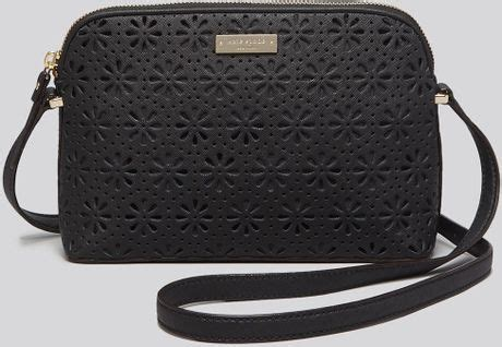 New Kate Spade Mandy Perforated Mandy kate spade crossbody bag cedar perforated mandy in black lyst