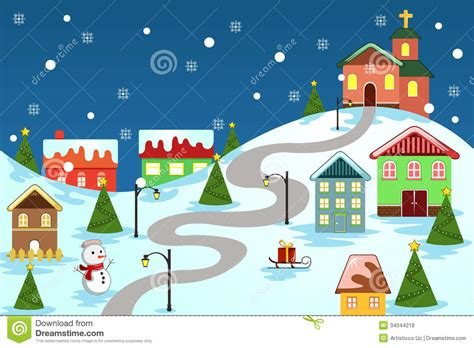 street clipart christmas village pencil and in color