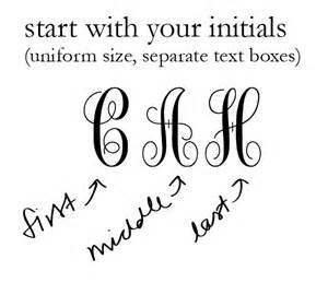 create monogram initials diy monograms the college prepster