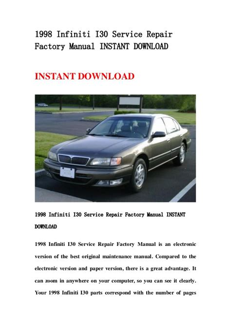 service manual 1998 infiniti i repair manual download 1998 infiniti i30 service repair