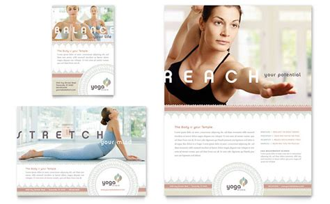 pilates amp yoga flyer amp ad template design