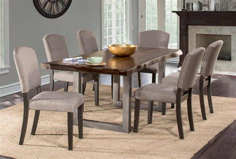hillsdale emerson rectangle dining set hillsdale emerson 7 rectangle dining set gray sheesham gray powder hd 5925dtbc7 at