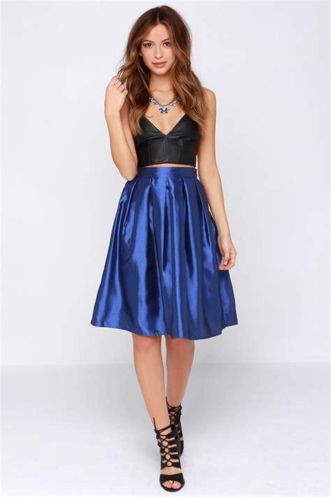 Pleated Bohemian Midi Dress Kinan royal blue skirt midi skirt pleated skirt 34 00