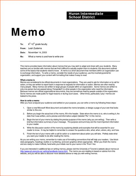 Memo Format Mla Memorandum Exle Business Memorandum Format Write What A Memo Is How To Write A Memo Feat Open