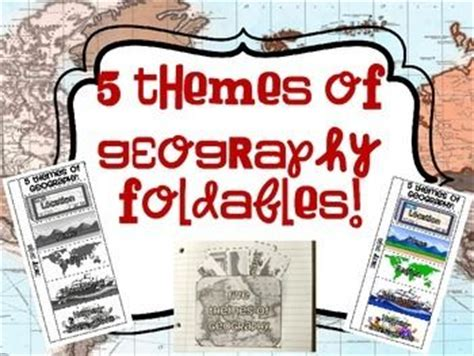 social themes meaning activities colors and five themes of geography on pinterest