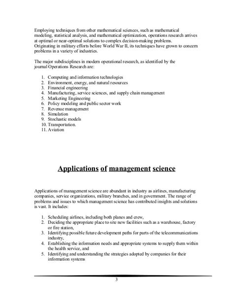 Decision Study Paper - operational decision research paper