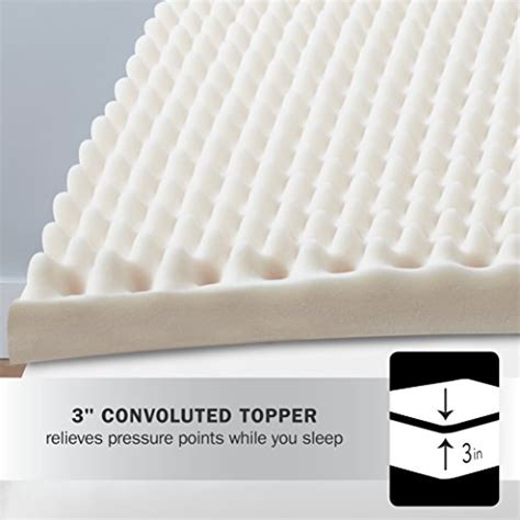 Convoluted Foam Mattress Pad by Beautyrest 3 Quot Convoluted Foam Mattress Topper New Ebay