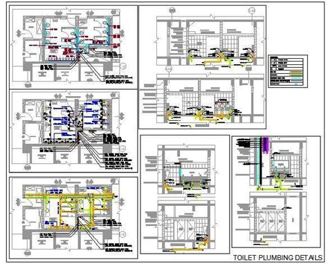 Home Plan Design Tips by Toilet Plumbing Detail With Pipes And Fitttings Plan N