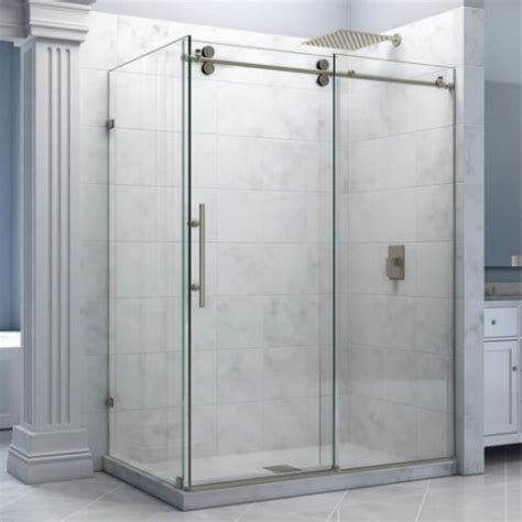 Elegant Frameless Sliding Glass Shower Doors Home Ideas Diy Frameless Glass Shower Doors