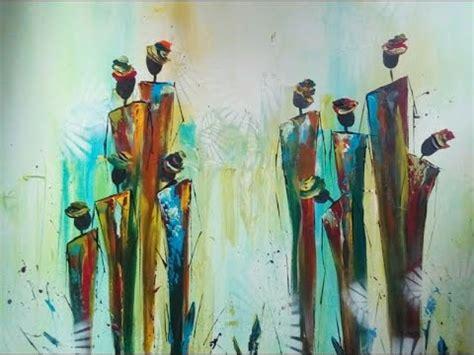 moderne figuren painting abstract figures abstrakte figuren malen