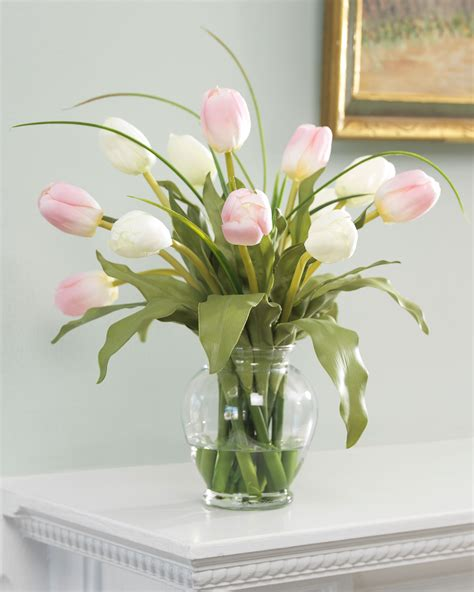 tulips arrangements custom mixed silk tulip arrangement by officescapesdirect