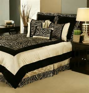 7pc black taupe velvety animal print comforter set queen