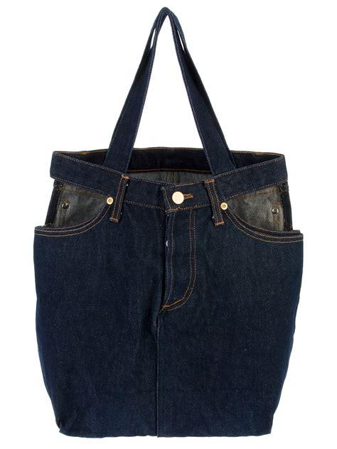 Jean Paul Gaultier Bombers Bag by Jean Paul Gaultier Denim Cage Bag In Blue For Denim