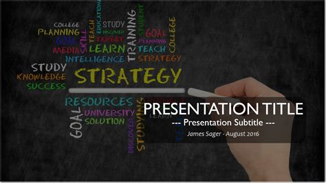 Free Strategy Powerpoint Template 11424 Sagefox Powerpoint Templates Powerpoint Template Strategy