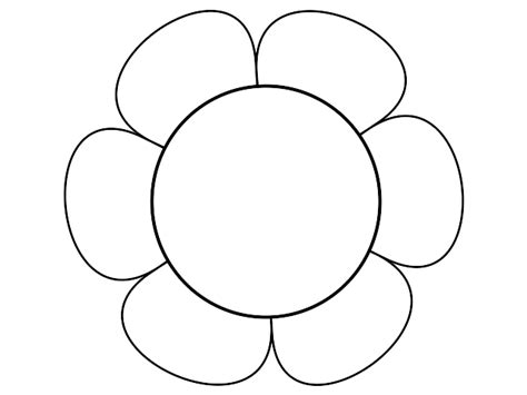 flower template with 6 petals six petal flower template cliparts co