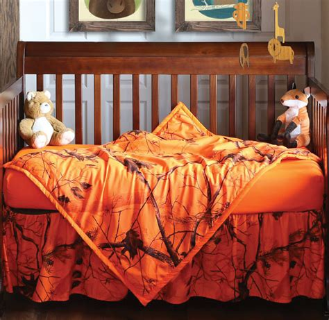orange camo crib bedding realtree camo bedding 3 orange blaze realtree ap