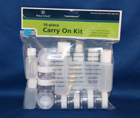 tsa 1 quart size bag travel kit 311 3 1 1