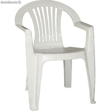 silla plastico blanca  posabrazos catering mod lagos barata
