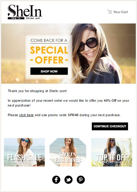 Swipe 10 Ecommerce Email Templates 20 Real Exles Special Offer Email Template