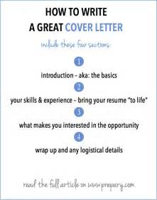 how to write a great cover letter how to write a cover letter the prepary the prepary